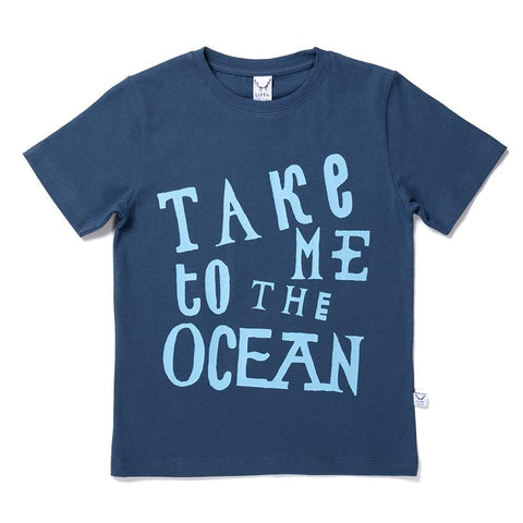 Littlehorn Take Me To The Ocean Tee - Navy