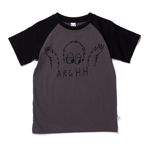Arghh Raglan Tee - Oil/Black