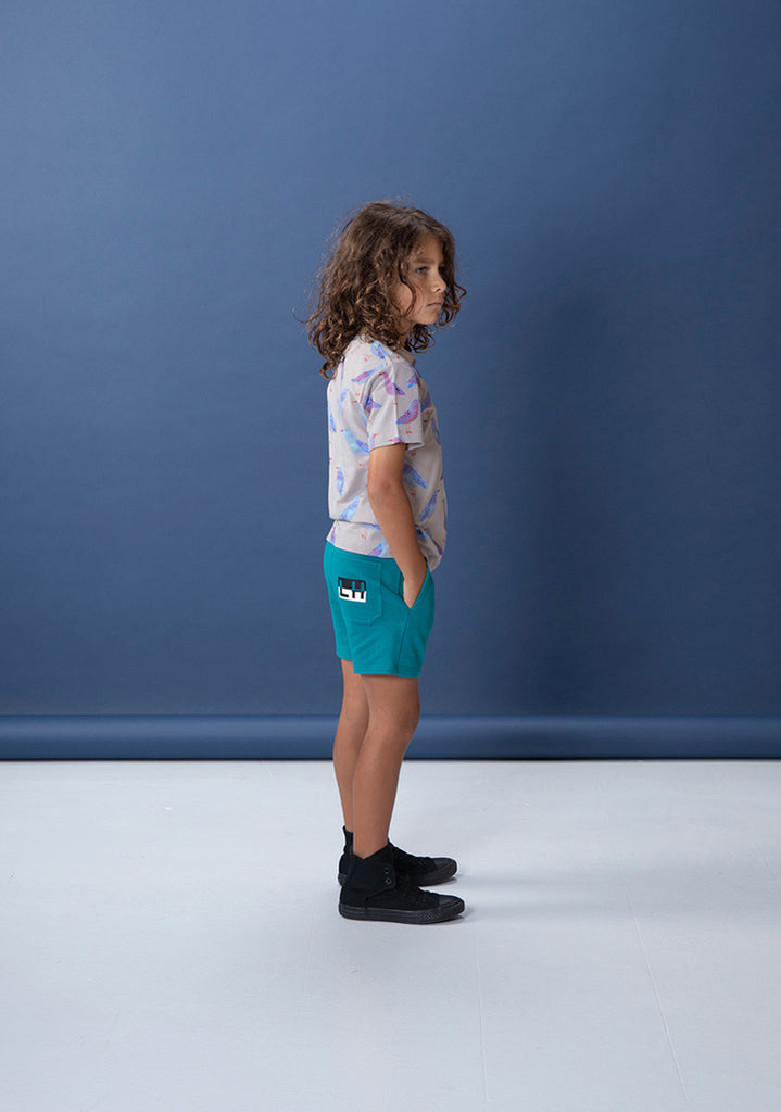 Branded Sweat Short - Teal