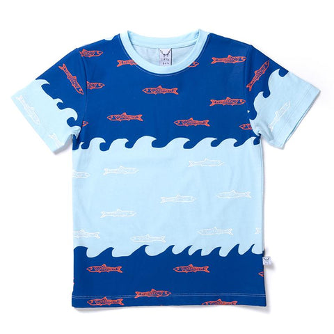 Littlehorn Aquarium Tee - Blues