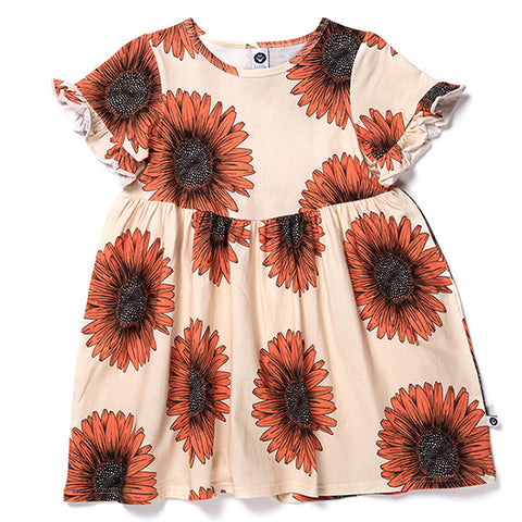 Sunflowers Dress - Sand