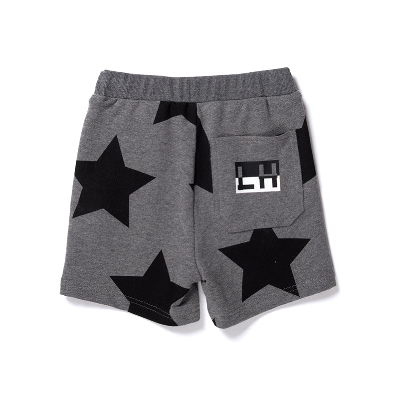 Stars Sweat Short - Charcoal