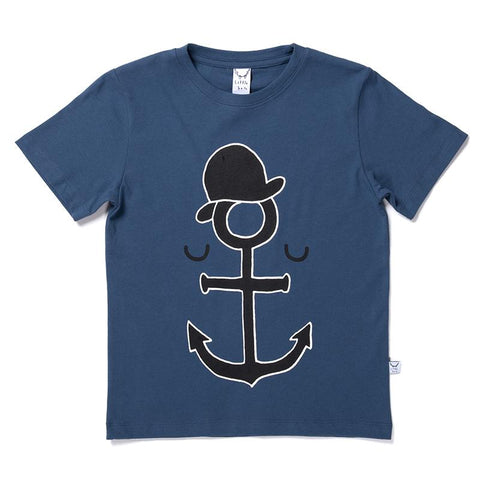 Littlehorn Anchor Man Tee - Navy