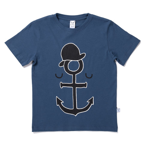 Anchor Man Tee - Navy