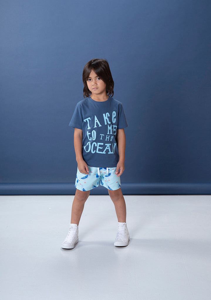 Take Me To The Ocean Tee - Navy