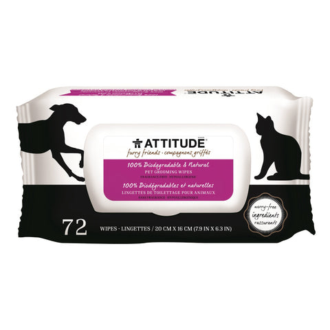 Attitude Natural Grooming Wipes Fragrance-free 72 Wipes