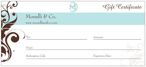 Monelli & Co. Gift Certificate - $40
