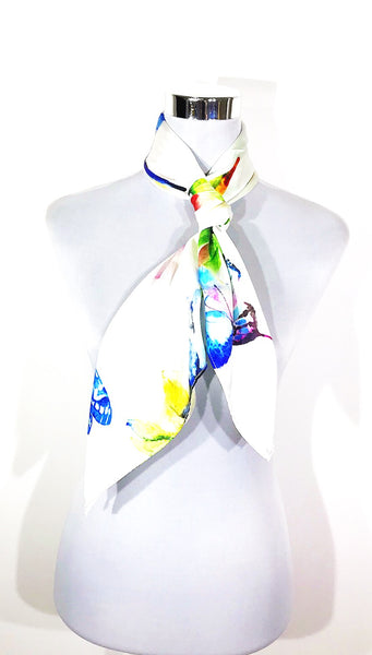 Butterfly attraction silk scarf