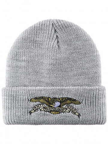 ANTI HERO - EMBROIDERED CUFF BEANIE - HEATHER