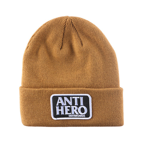 ANTI HERO - RESERVE PATCH BEANIE - BROWN