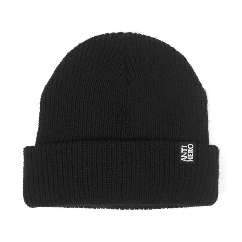 ANTI HERO - BLACKHERO CUFF BEANIE - BLACK