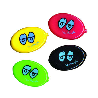 KROOKED - EYES COIN POUCH - BLACK