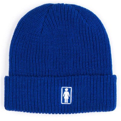 GIRL BEANIES OG FOLD ROYAL O/S