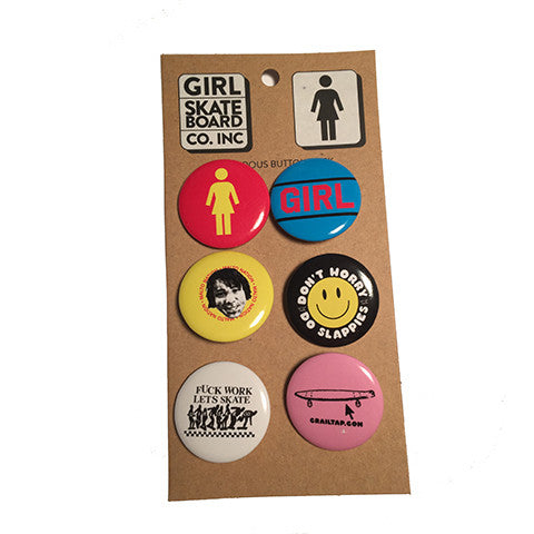 GIRL ACCESSORIES BUTTONS 6PK