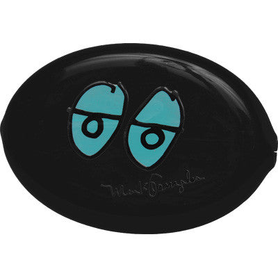 KR BAGS EYES COIN POUCH BLACK O/S