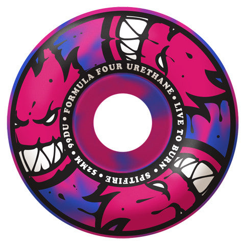 Formula Four 99D Afterburners Blue/Pink Swirl Classic 53MM