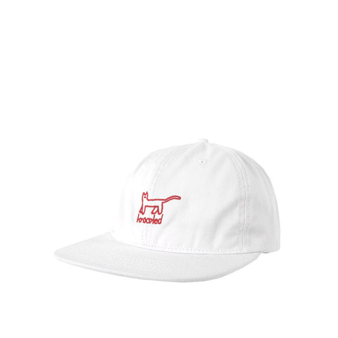 KROOKED - KAT EMBROIDERED STRAPBACK HAT - WHITE
