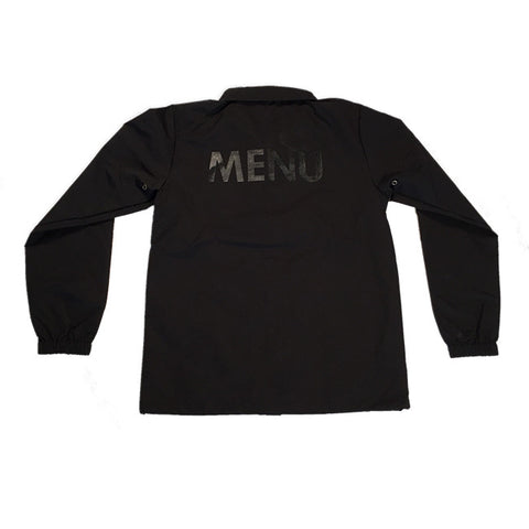 MENU - WATERPROOF COACH JACKET - BLACK