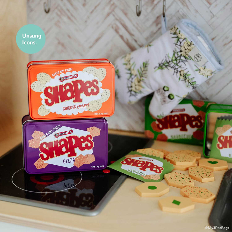 Yum Yum 🍕🍗 Add Arnott's Shapes to your kitchen play!
