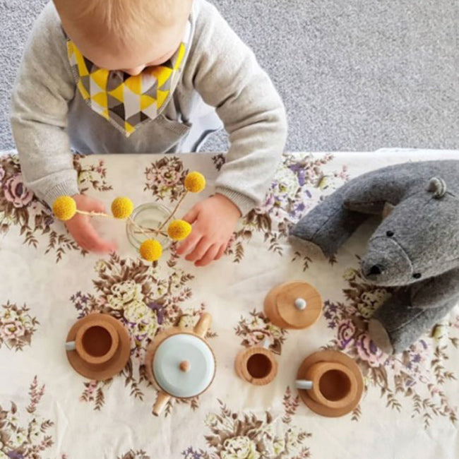 please don't add water to wooden toys 💝 like our tea set