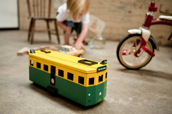 our wooden toy tram makes the best gift for Christmas