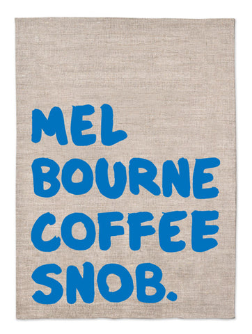 Melbourne Souvenirs Melbourne Gifts Best Gifts from Australia coffee snob tea towel