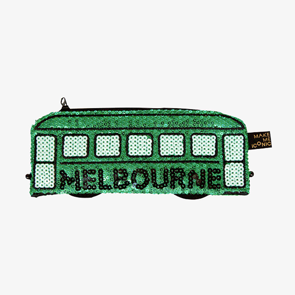 Make Me Iconic Australian Gifts Souvenirs sequin purse tram
