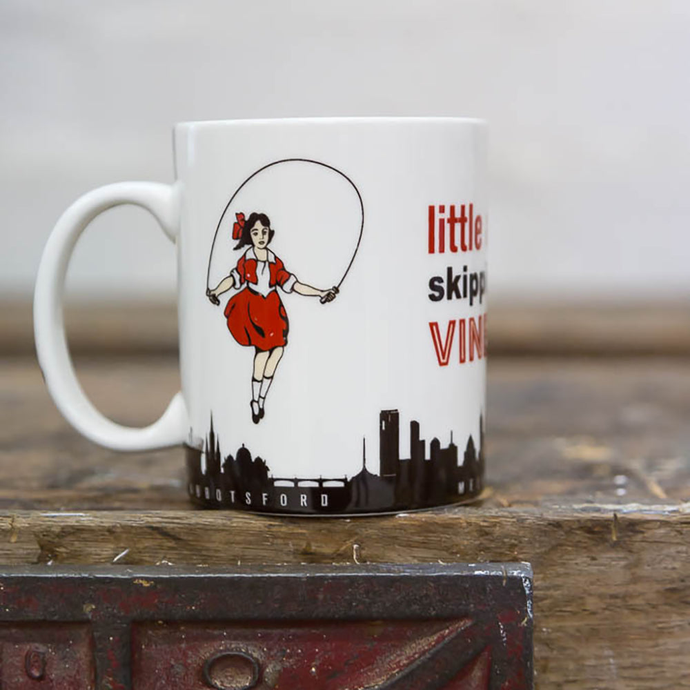 Melbourne Australian gifts souvenirs mug Skipping Girl