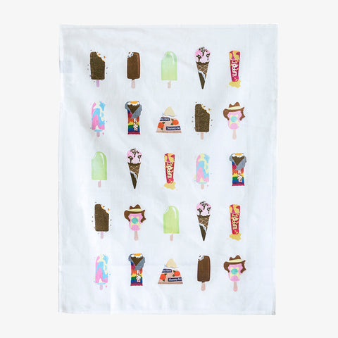 ICONIC TEA TOWEL 100% LINEN - NEON