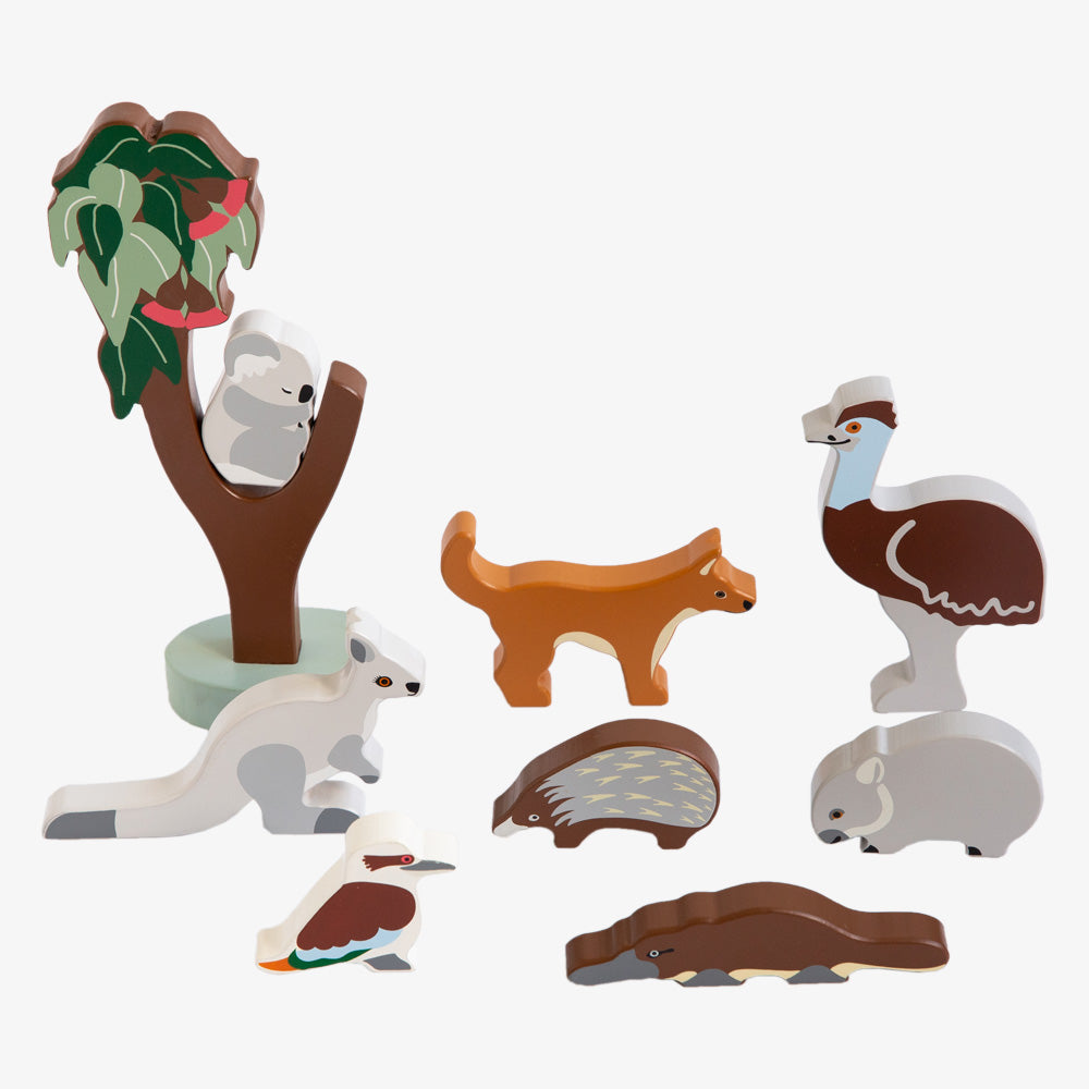 Australian gifts and souvenirs wood toys Australian animals