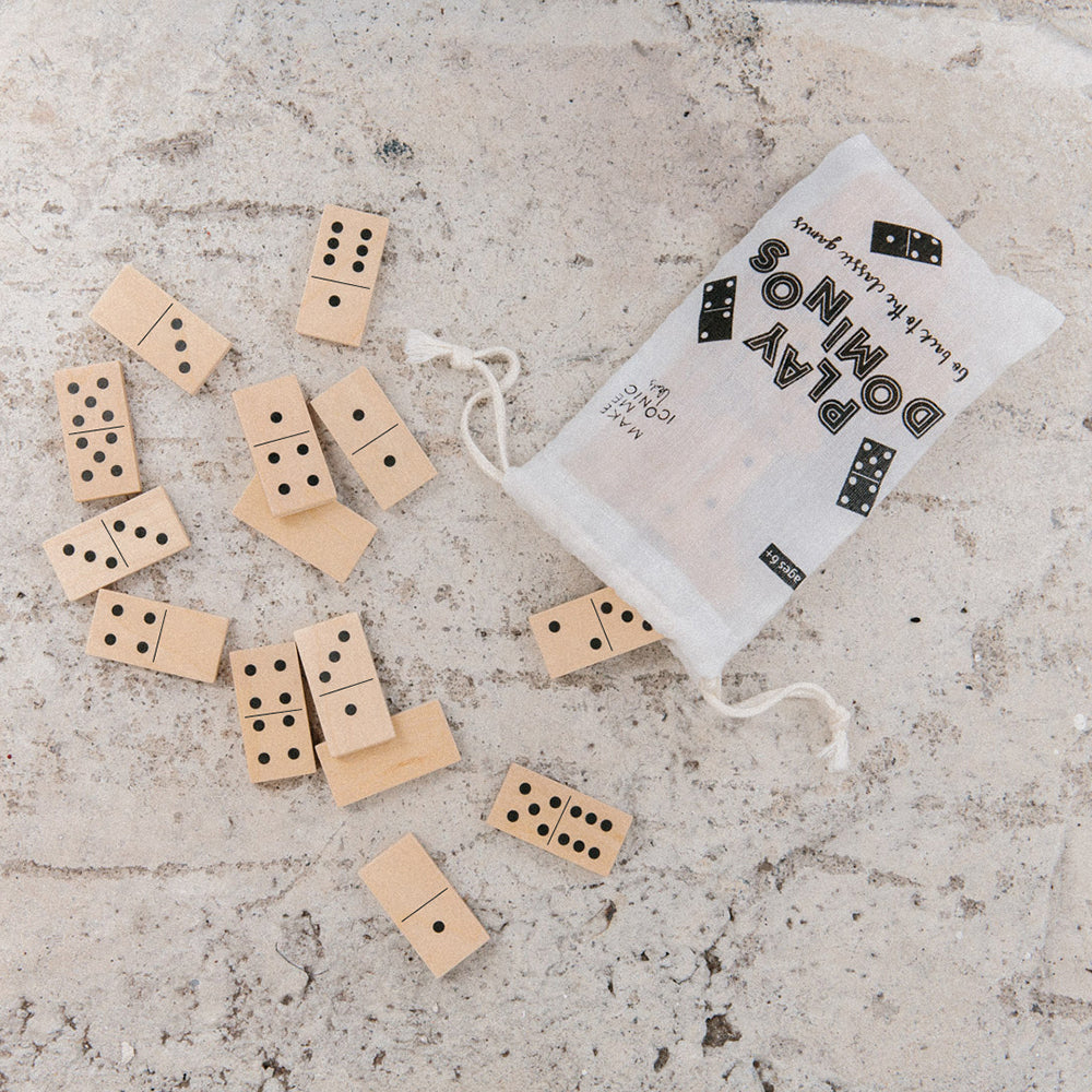 make me iconic loose change wood toy dominoes
