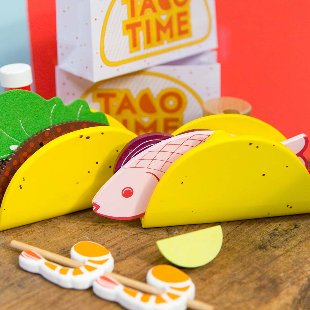 Australian gifts souvenirs wood toy taco kit