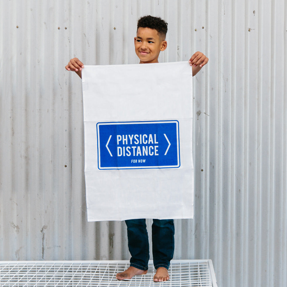 ICONIC TEA TOWEL - PHYSICAL DISTANCE