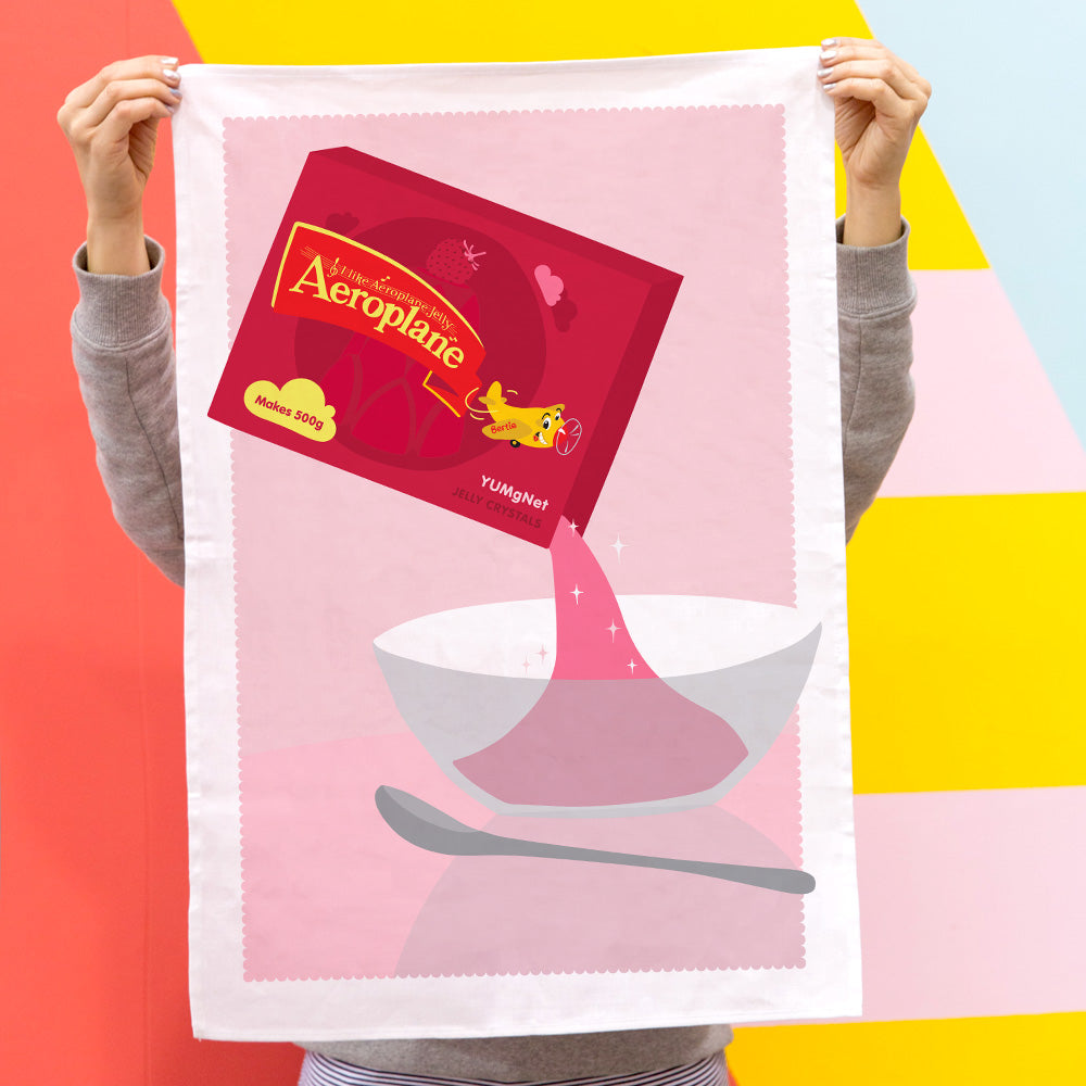 ICONIC TEA TOWEL - AEROPLANE JELLY