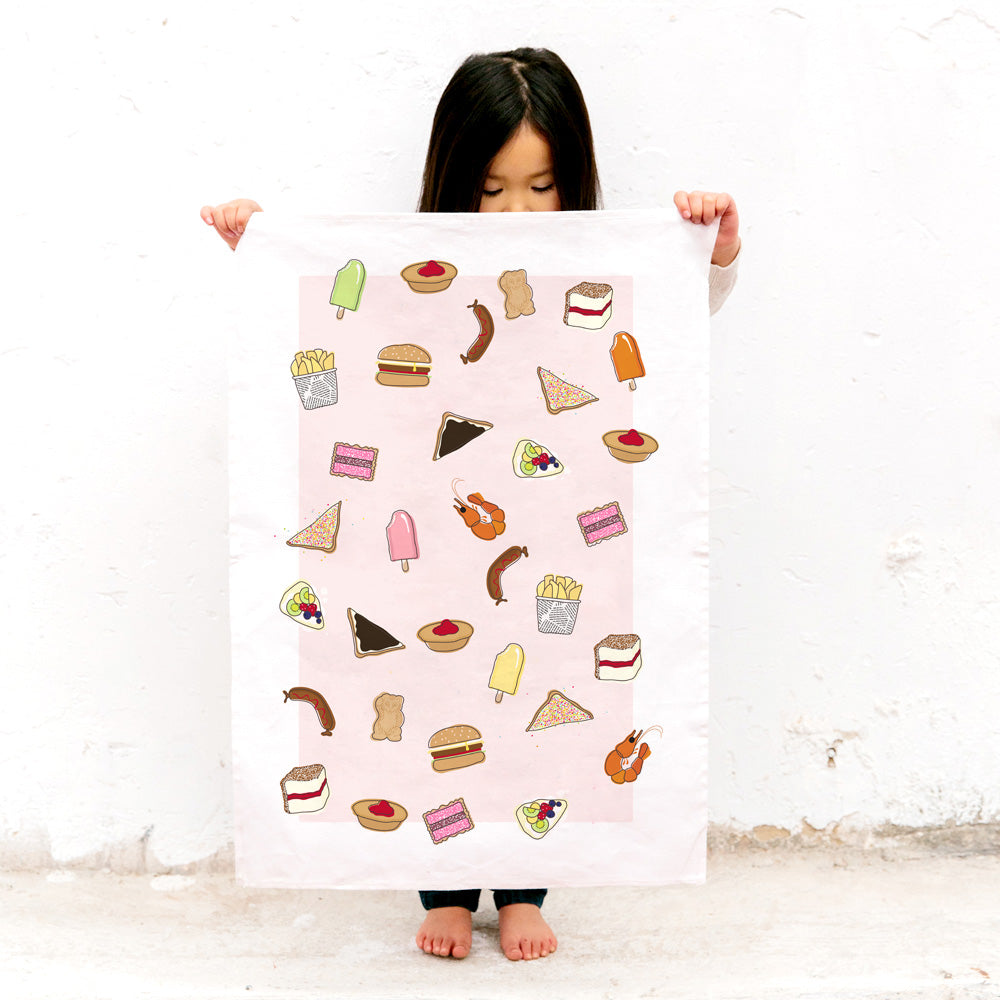 ICONIC TEA TOWEL - AUSSIE FOODS