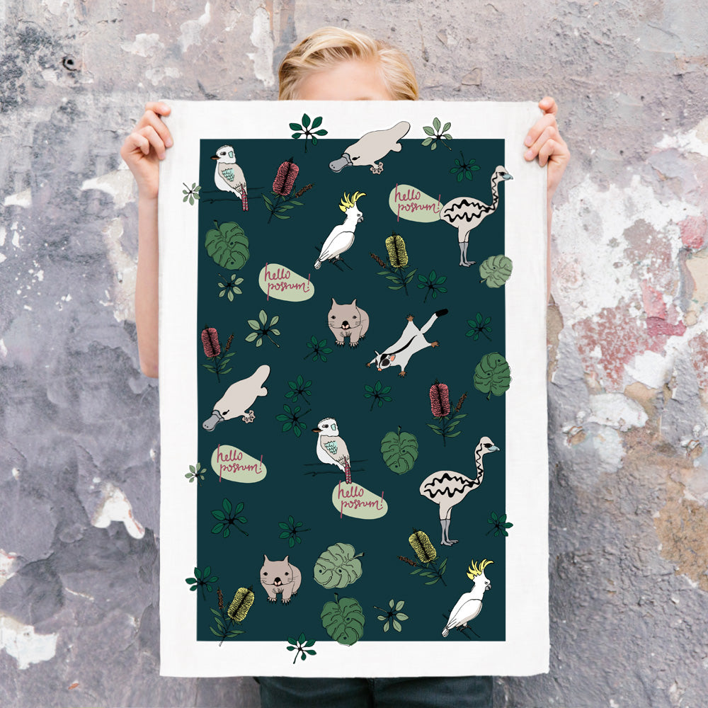 ICONIC TEA TOWEL - AUSTRALIAN NATIVES