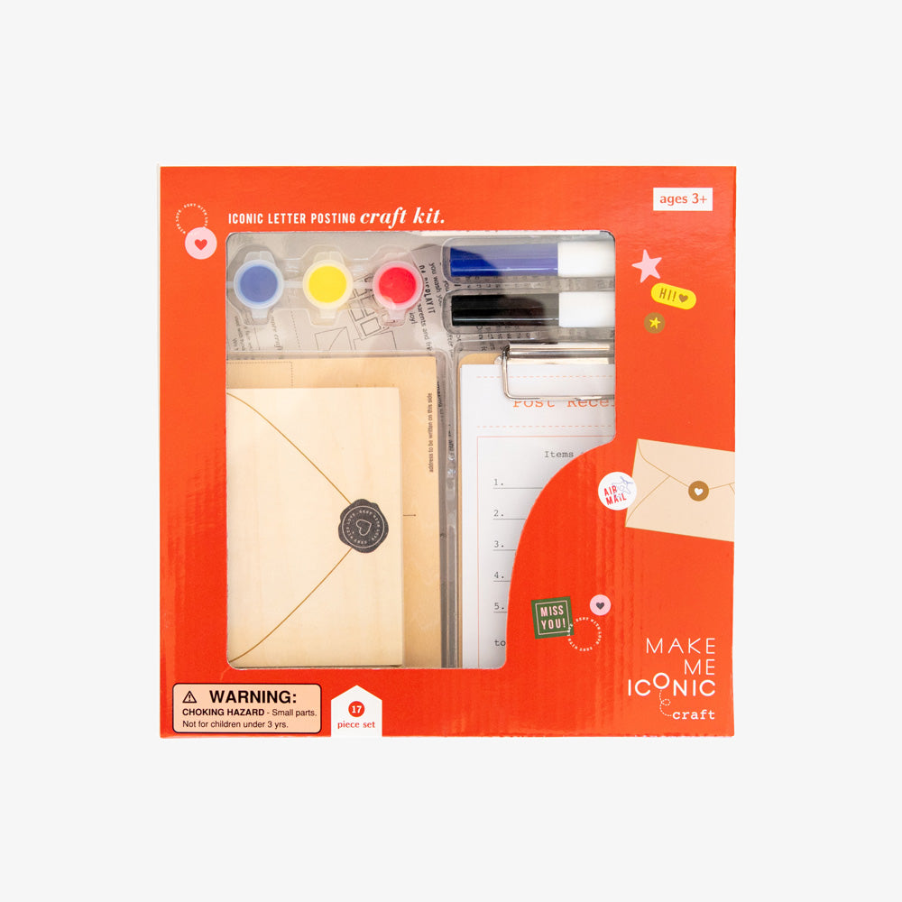ICONIC TOY - POST BOX LETTERS CRAFT KIT