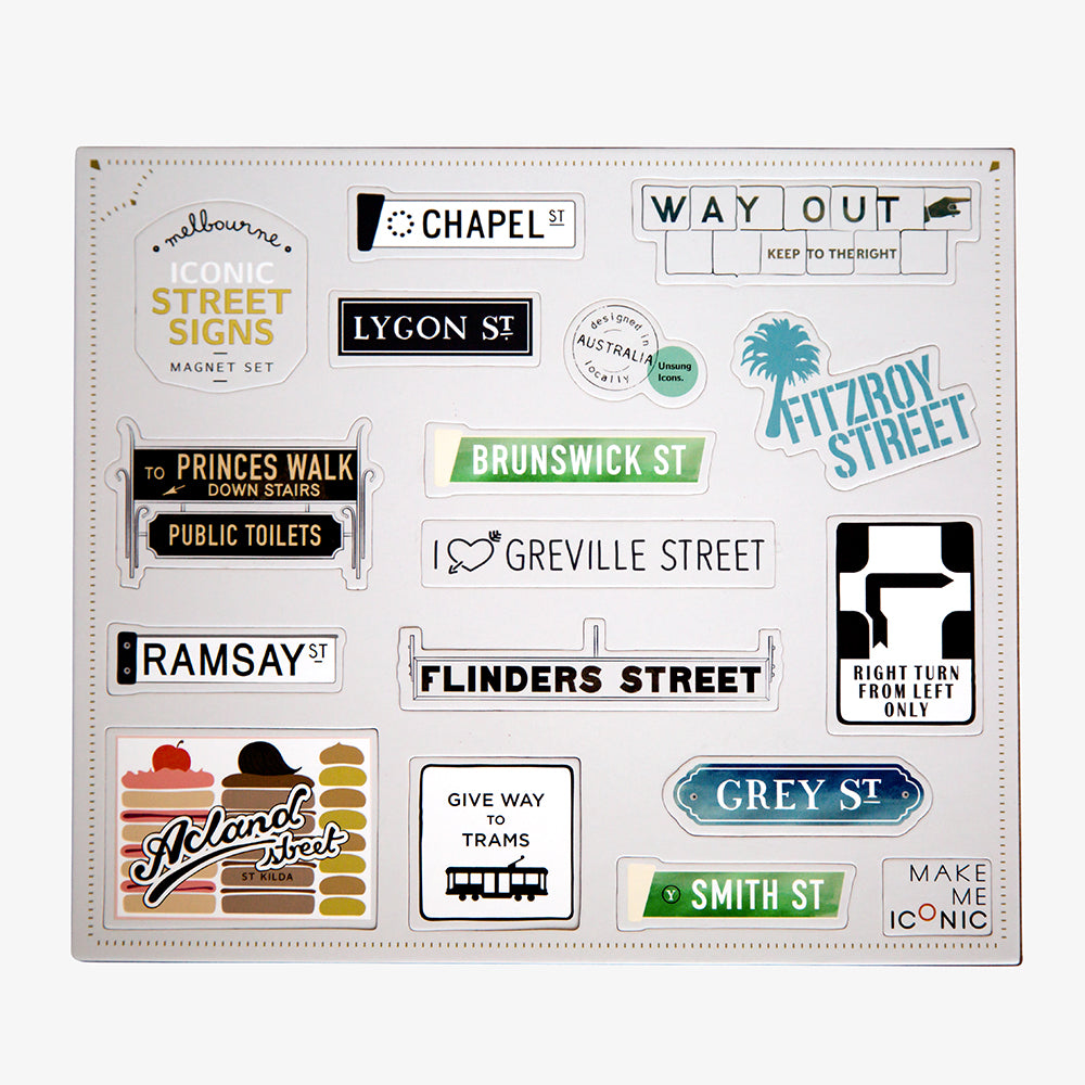 ICONIC MAGNETS - STREET SIGNS