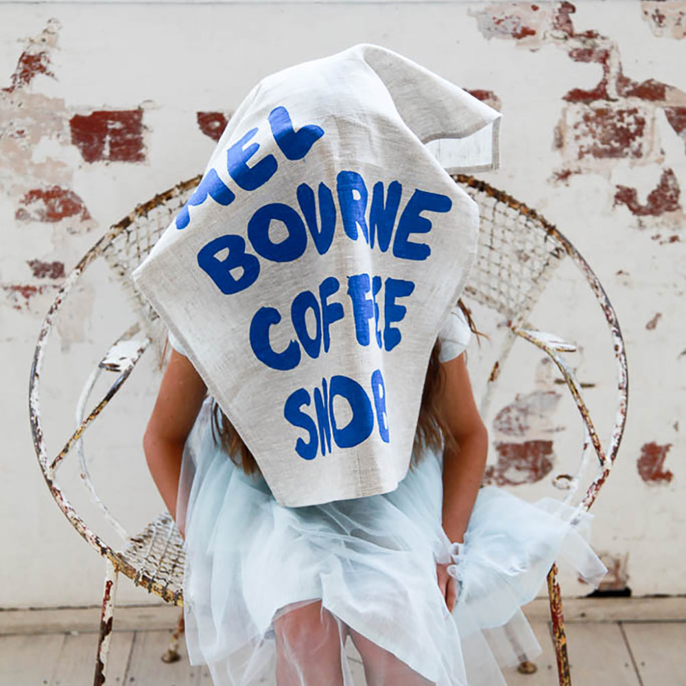 ICONIC TEA TOWEL 100% LINEN - COFFEE SNOB