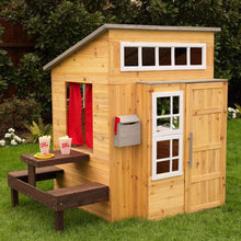 Load image into Gallery viewer, KidKraft Wooden Outdoor Garden Playhouse Including Play Kitchen