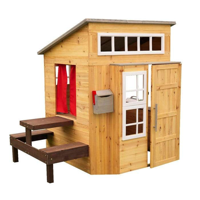 KidKraft Wooden Outdoor Garden Playhouse Including Play Kitchen