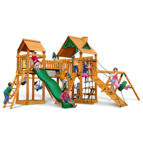 Gorilla Pioneer Peak Swing Set with Amber Posts | 01-0006-AP