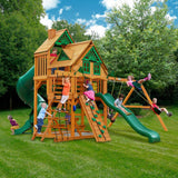 Gorilla Great Skye I Treehouse Swing Set with Amber Posts Cedar Playset
