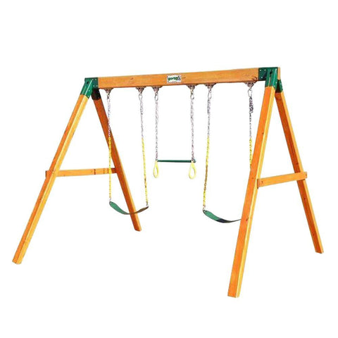 Gorilla Playsets 3-Position Freestanding Cedar Swing Set