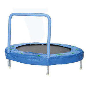 "JumKing 48"" Bouncer with Handrail, Blue Frog 