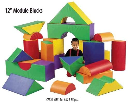 Childrens Factory Soft Big Block Set - 35 Pieces