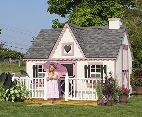 Little Cottage 8 x 12 Feet Victorian Wooden Playhouse Panelized Kit