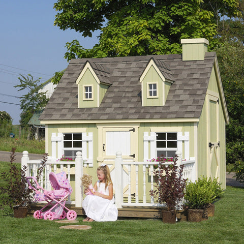 Little Cottage Cape Cod 6 x 8 Feet Wood Playhouse