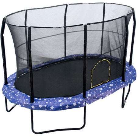 JumpKing Oval Trampoline With American Stars Graphic Pad