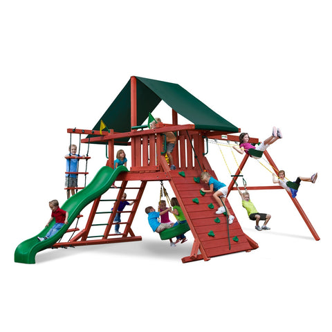 Gorilla Playsets Sun Climber I Swing Set w/ Sunbrella Canvas Forest Green